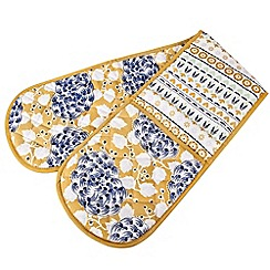 Denby - Cotton 'Monsoon Cordoba' double oven glove