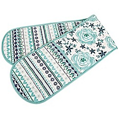 Denby - Aqua 'Monsoon Antalya' double oven glove