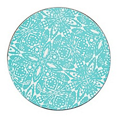 Denby - Set of four turquoise 'Monsoon Cadiz' coasters