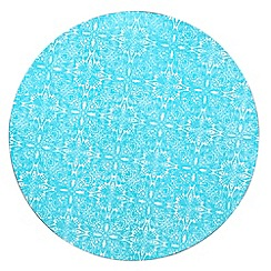 Denby - Set of four turquoise 'Monsoon Cadiz' place mats