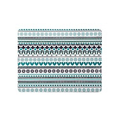 Denby - Set of four turquoise 'Monsoon Tangier' placemats