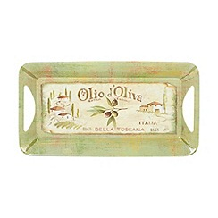 Creative Tops - Olive oil' slogan motif tray