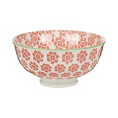 Creative Tops - Small fine china orange 'Wanderer' floral print bowl