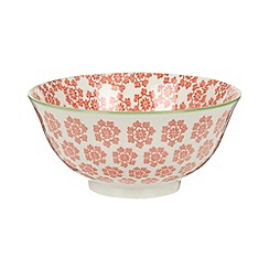 Creative Tops - Medium fine china orange 'Wanderer' floral print bowl
