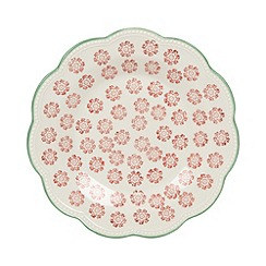Creative Tops - Stoneware orange 'Wanderer' scalloped tea plate