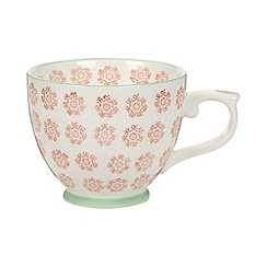 Creative Tops - Fine china orange 'Wanderer' floral print teacup