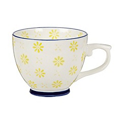 Creative Tops - Fine china yellow 'Wanderer' floral print teacup