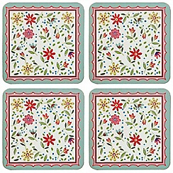 Queens - Set of four 'Caravan Trail Fowey' coasters