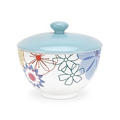 Portmeirion - Multi-coloured glazed 'Crazy Daisy' covered sugar bowl