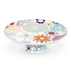 Portmeirion - Multicoloured 'Crazy Daisy' cake stand