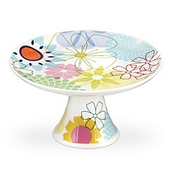Portmeirion - Multicoloured 'Crazy Daisy' mini cake stand