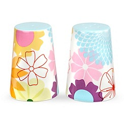 Portmeirion - Multicoloured 'Crazy Daisy' salt & pepper set