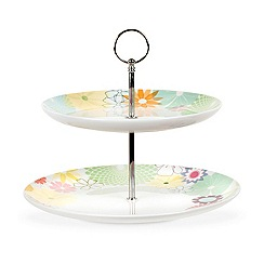 Portmeirion - Multicoloured 'Crazy Daisy' two tier cake stand