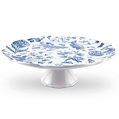 Portmeirion - White 'Botanic Blue' cake stand