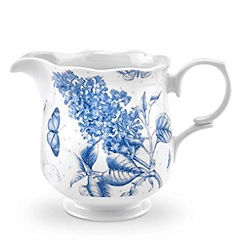 Portmeirion - White 'Botanic Blue' cream jug