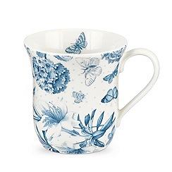Portmeirion - White 'Botanic Blue' mug