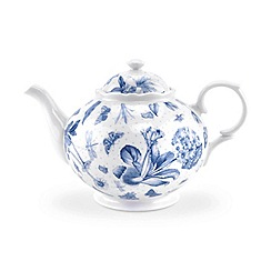 Portmeirion - White 'Botanic Blue' tea pot