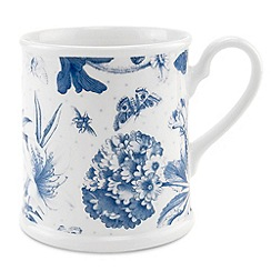 Portmeirion - White 'Botanic Blue' tankard mug