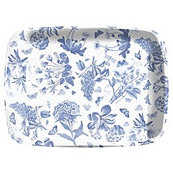 Portmeirion - White 'Botanic Blue' tray