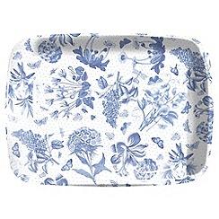 Portmeirion - White 'Botanic Blue' tray