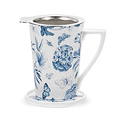 Portmeirion - White 'Botanic Blue' mug gift set