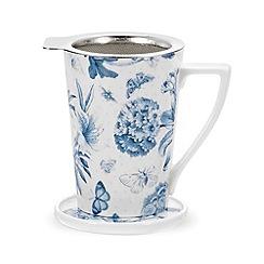 Portmeirion - White 'Botanic Blue' mug gift set