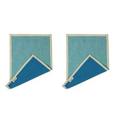 Jamie Oliver - Set of four blue stripe napkins