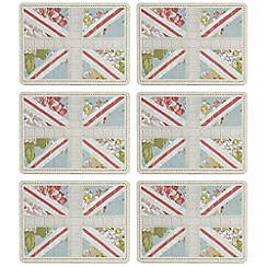 Home Collection - Set of six blue 'Union Jack' placemats