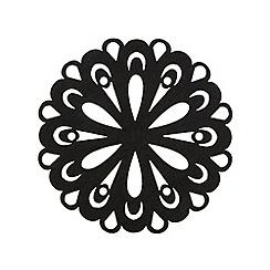 Inspire - Set of four black felt coasters