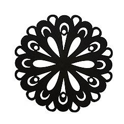 Inspire - Set of four black felt place mats