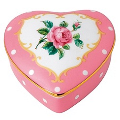 Royal Albert - Fine China Pink heart shaped box