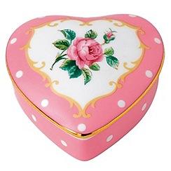 Royal Albert - Fine China Pink heart shaped box