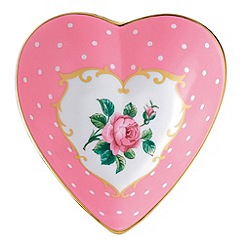 Royal Albert - Pink fine china heart shaped keepsake box