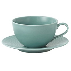Royal Doulton - Aqua 'Maze' ripple breakfast cup and saucer