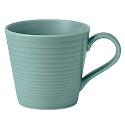 Royal Doulton - Aqua 'Maze' ripple large mug