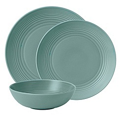 Royal Doulton - Aqua 'Maze' ripple 12 piece dinner set