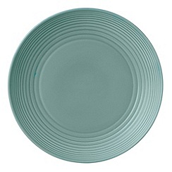 Royal Doulton - Aqua 'Maze' ripple 28cm dinner plate