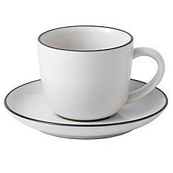Royal Doulton - Stoneware 'Bread Street' espresso cup and saucer