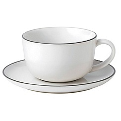 Royal Doulton - Stoneware 'Bread Street' cup and saucer