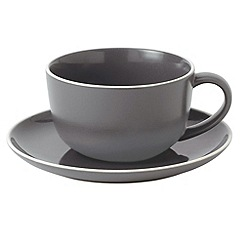 Gordon Ramsay By Royal Doulton - Slate stoneware 'Bread Street' cup and saucer