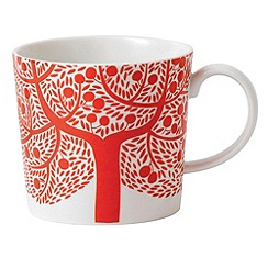 Royal Doulton - Fine china 'Fable' red tree mug