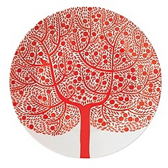 Royal Doulton - Fine china 'Fable' red tree side plate