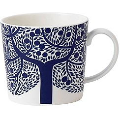 Royal Doulton - Fine china 'Fable' blue tree mug