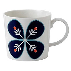 Royal Doulton - Fine china 'Fable' blue flower mug