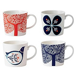 Royal Doulton - Fine china 'Fable' set of four accent mugs