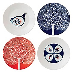 Royal Doulton - Fine china 'Fable' set of four accent plates