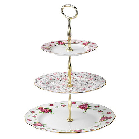 Royal Albert - Fine Bone China Rose three tier cake stand