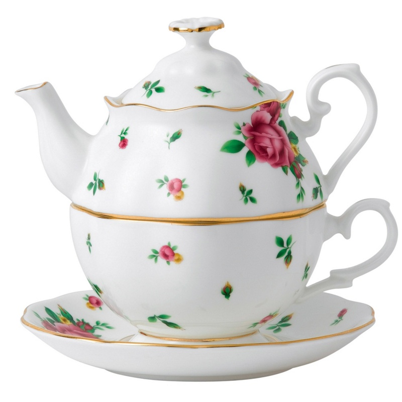 Royal Albert Fine Bone China Rose Tea for One, White