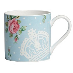 Royal Albert - Fine Bone China Blue spotted rose mug