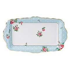 Royal Albert - Fine Bone China Blue spotted sandwich tray